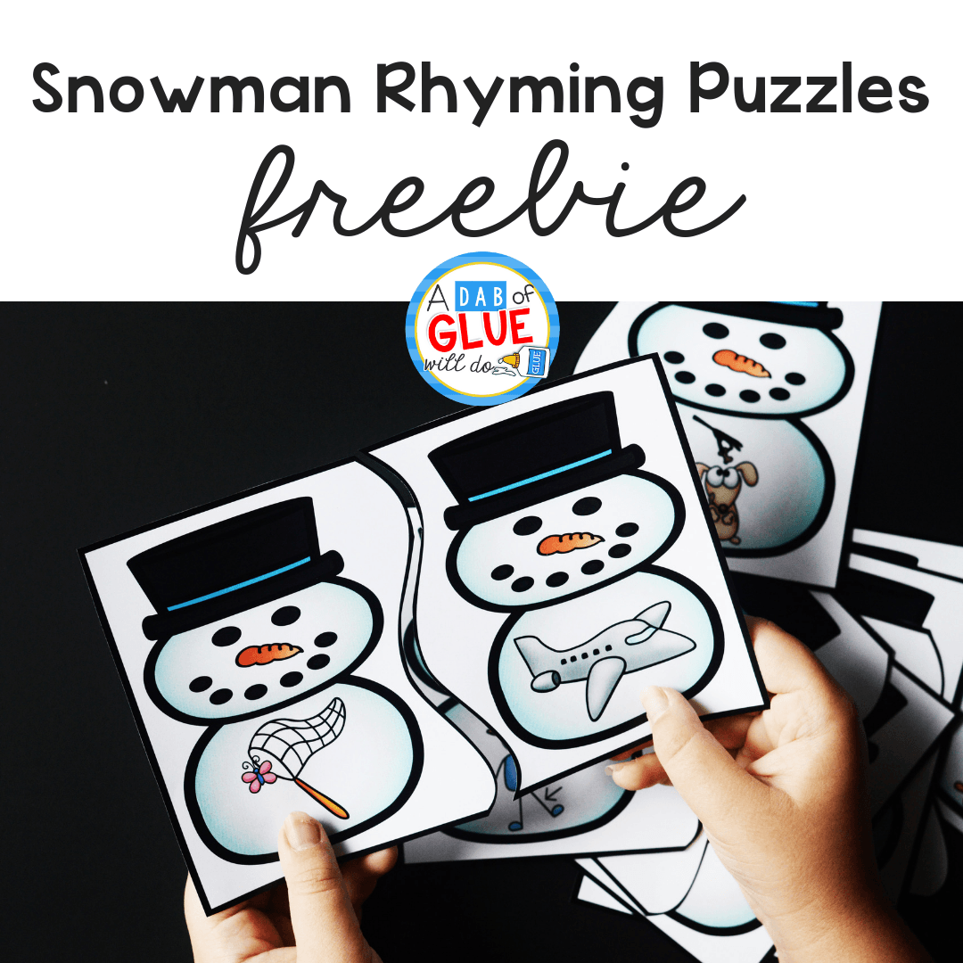 These Snowman Rhyming Puzzles help our preschool and kindergarten students build their phonological awareness in a hands-on way.