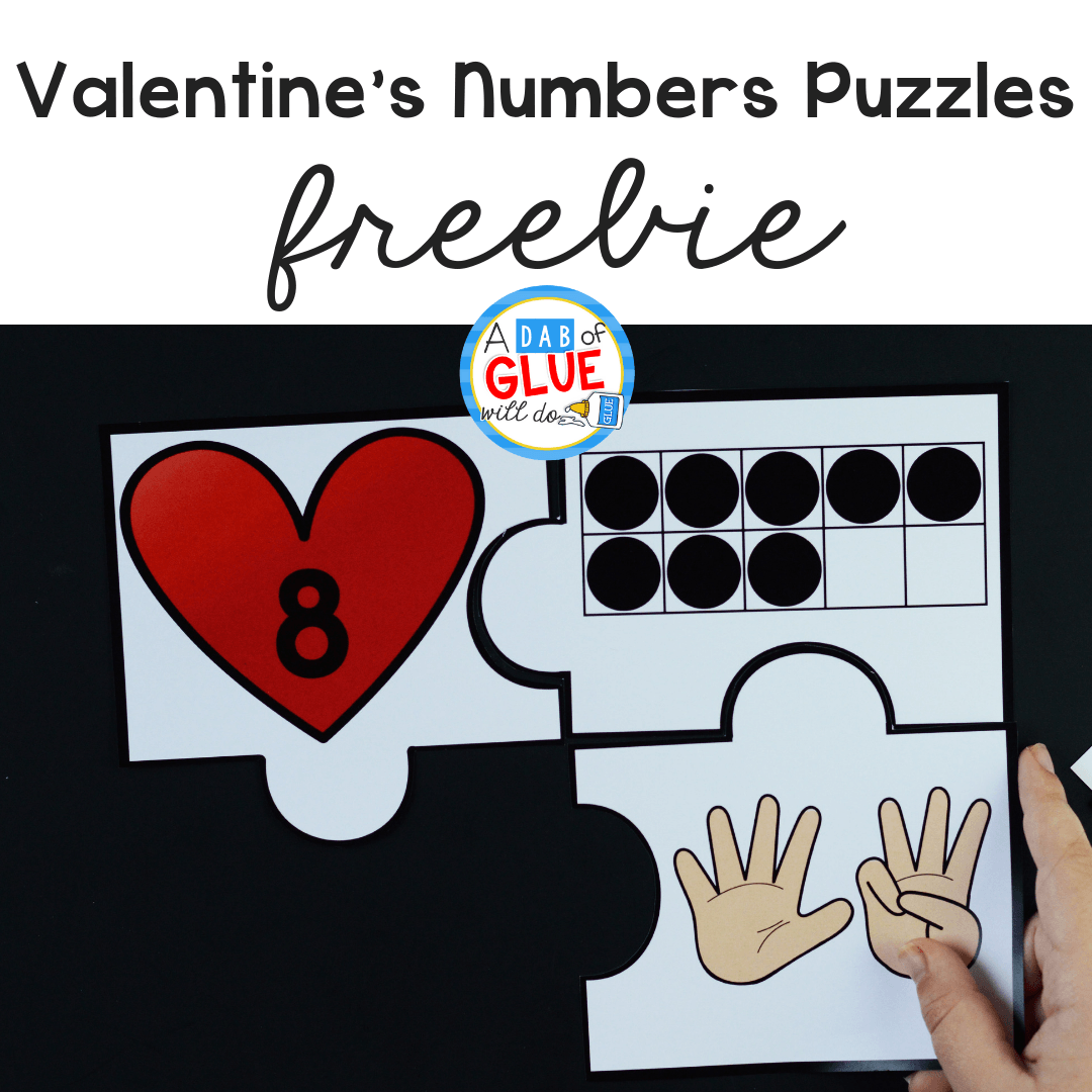 This Valentine's Day Numbers Puzzles is perfect for building a strong math foundation as we connect the holiday with number sense.