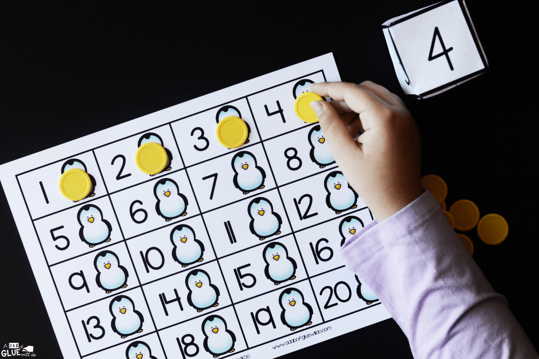 Winter First to 20 Activity helps little learners learn and review their number sense to build a strong foundation for more complex math skills.