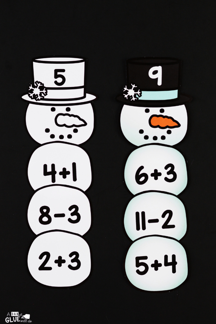 Connect winter with key math concepts with this SnowmanEditable Addition and Subtraction Activity. Kids can review their math facts in a fun hands-on way!