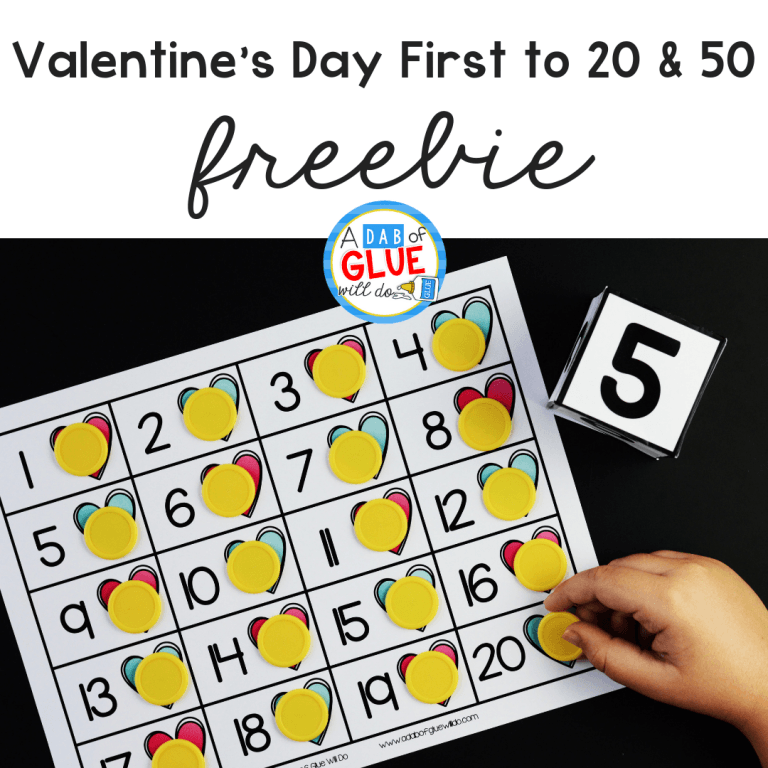 Connect Numbers with a fun holiday with this Valentine's Day First to 20 and 50 activity. Get your students learning in an exciting way.