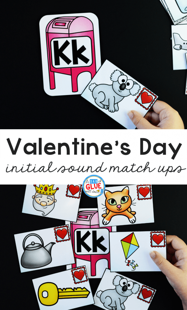 Emerging readers can practice their sounds and phonemes at the beginning of words with this Valentine's Day Initial Sound Match-Up.