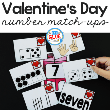 This exciting Valentine's Day Number Match-Up Activity is a great way to get kids learning without realizing they're learning.
