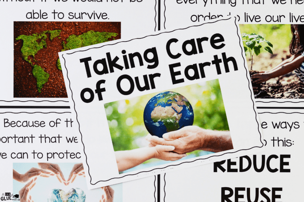 Taking care of our earth science unit