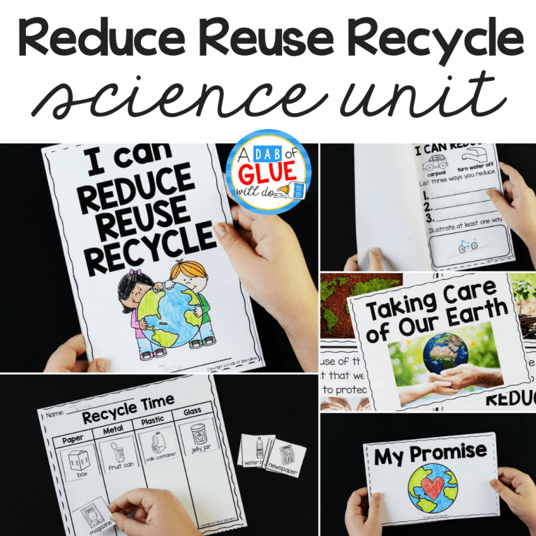 So that we can learn more about recycling I've created this Reduce, Reuse, Recycle Science Unit. So students can learn about the Three R's in a fun way.