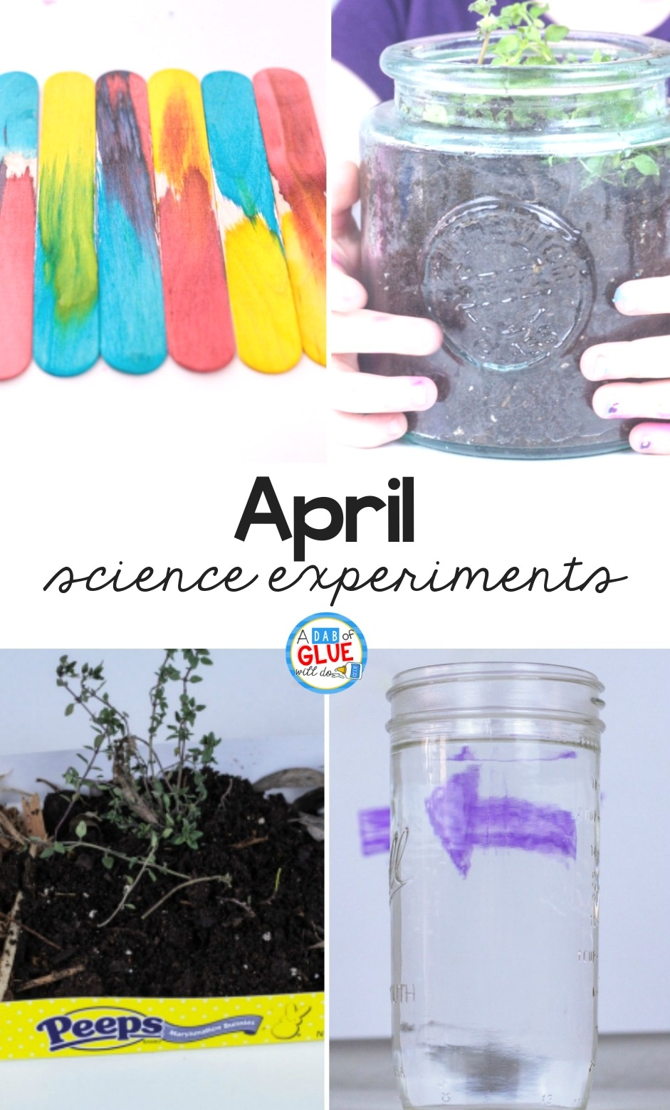 4 experiments for the month of April