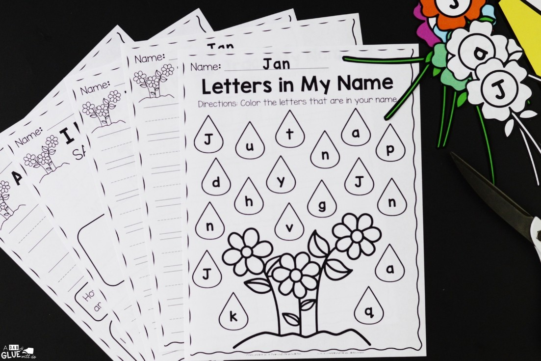 name activity worksheets