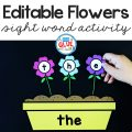 Connecting the blossoming spring season with literacy, I've created this FlowersEditable Sight WordActivity making learning sight words fun!