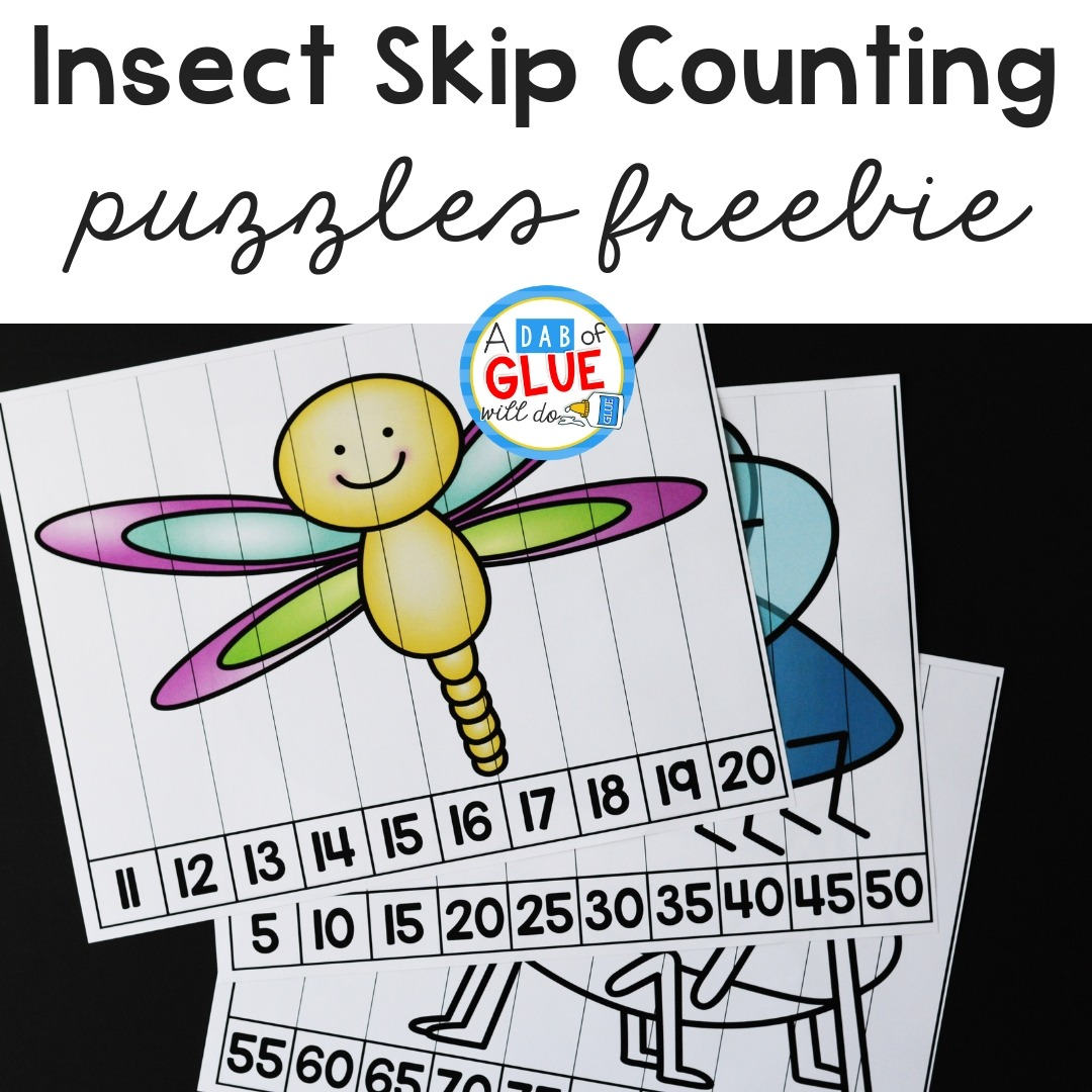 Insect Skip Counting Puzzles