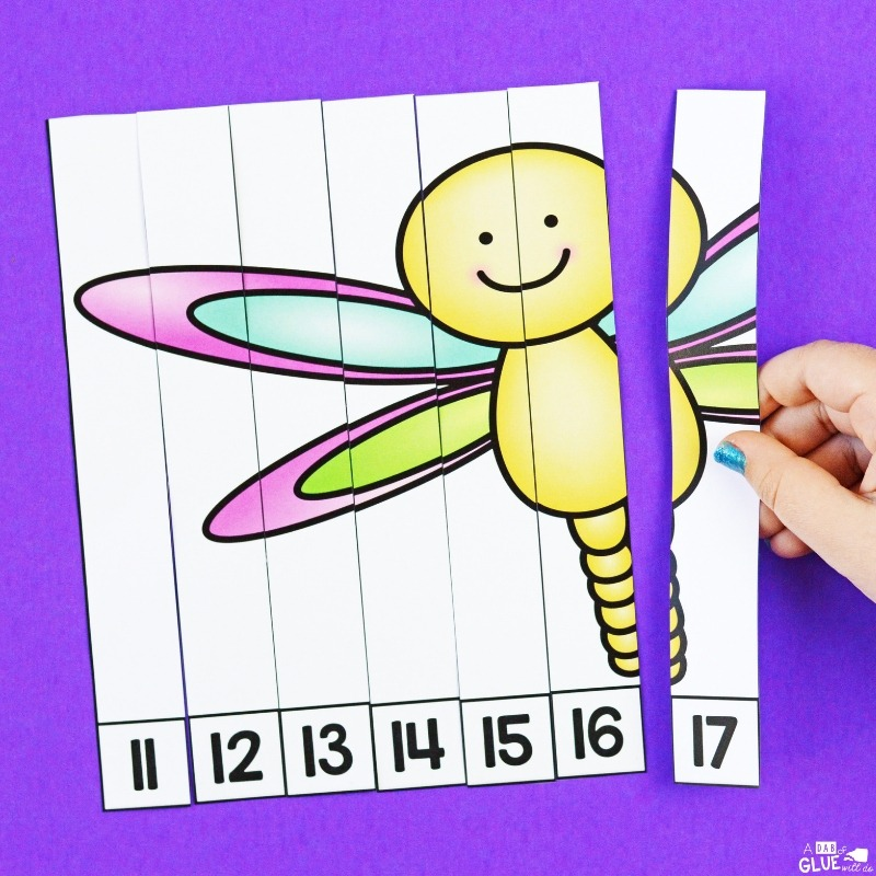 Counting by 1s with insect puzzles