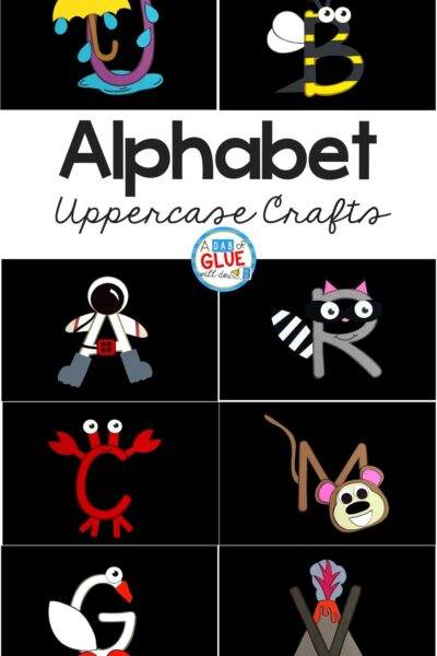 I love having weekly themes especially when we can build on it with the alphabet throughout the year. So I've created this Alphabet Crafts Uppercase and Worksheet Bundle.