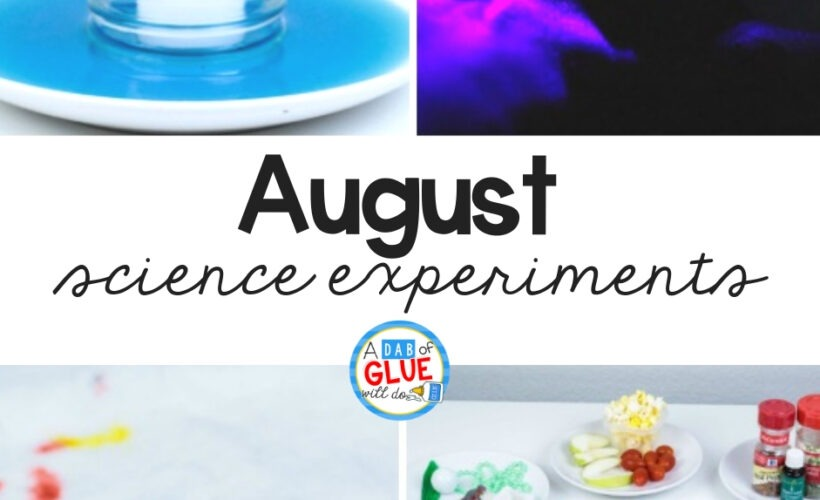 To connect summer with science, we've created these four AugustScience Experimentsso your students canconduct science experiments, make hypotheses, and ask and answer scientific questions.