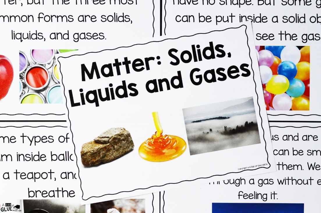 Matter Science Unti Hands-On learning for Students is packed full of experiments, activities, and scientific photographs.