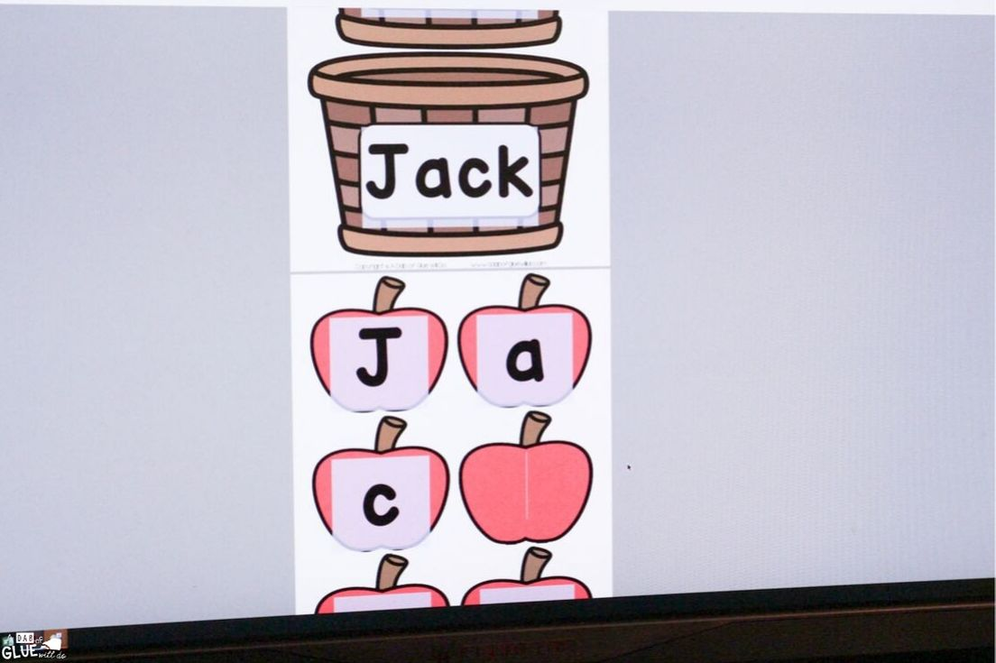 Students love building their names with this interactive Apple editable name activity.
