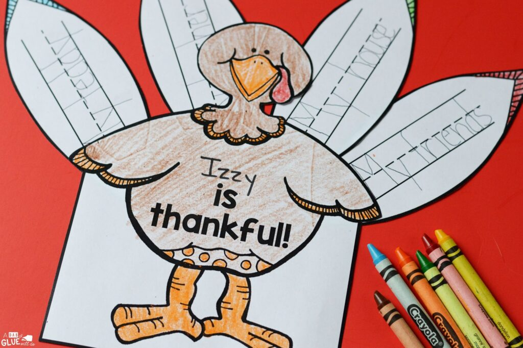 This I am Thankful Turkey is a great way to bring crafts and literacy together in a hands-on way.