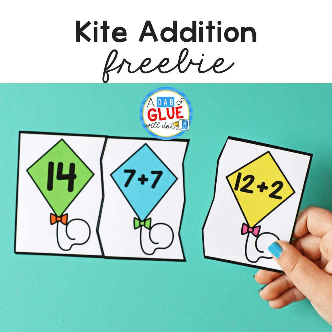 Kite Addition Freebie