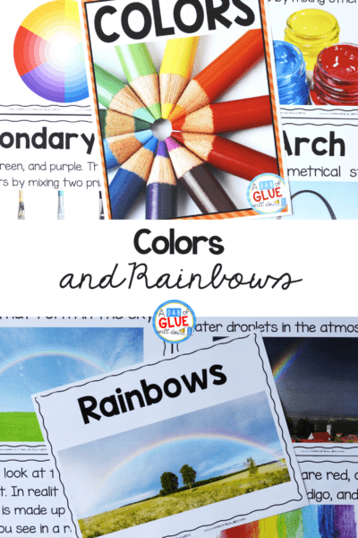 Students will learn about the different colors, primary and second colors, and fun hands-on color mixing experiments. This pack is great for homeschoolers and to add to your unit studies!