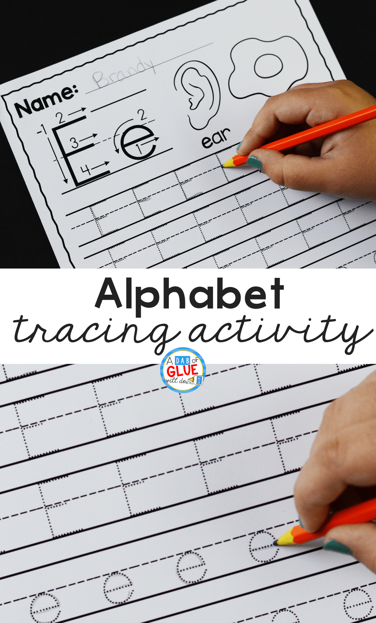 I love having weekly themes, especially when we can build on it while learning the alphabet throughout the year. So I've created this Alphabet Tracing Activity.