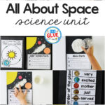 Space Science Lesson Unit Collage Pinterest Image