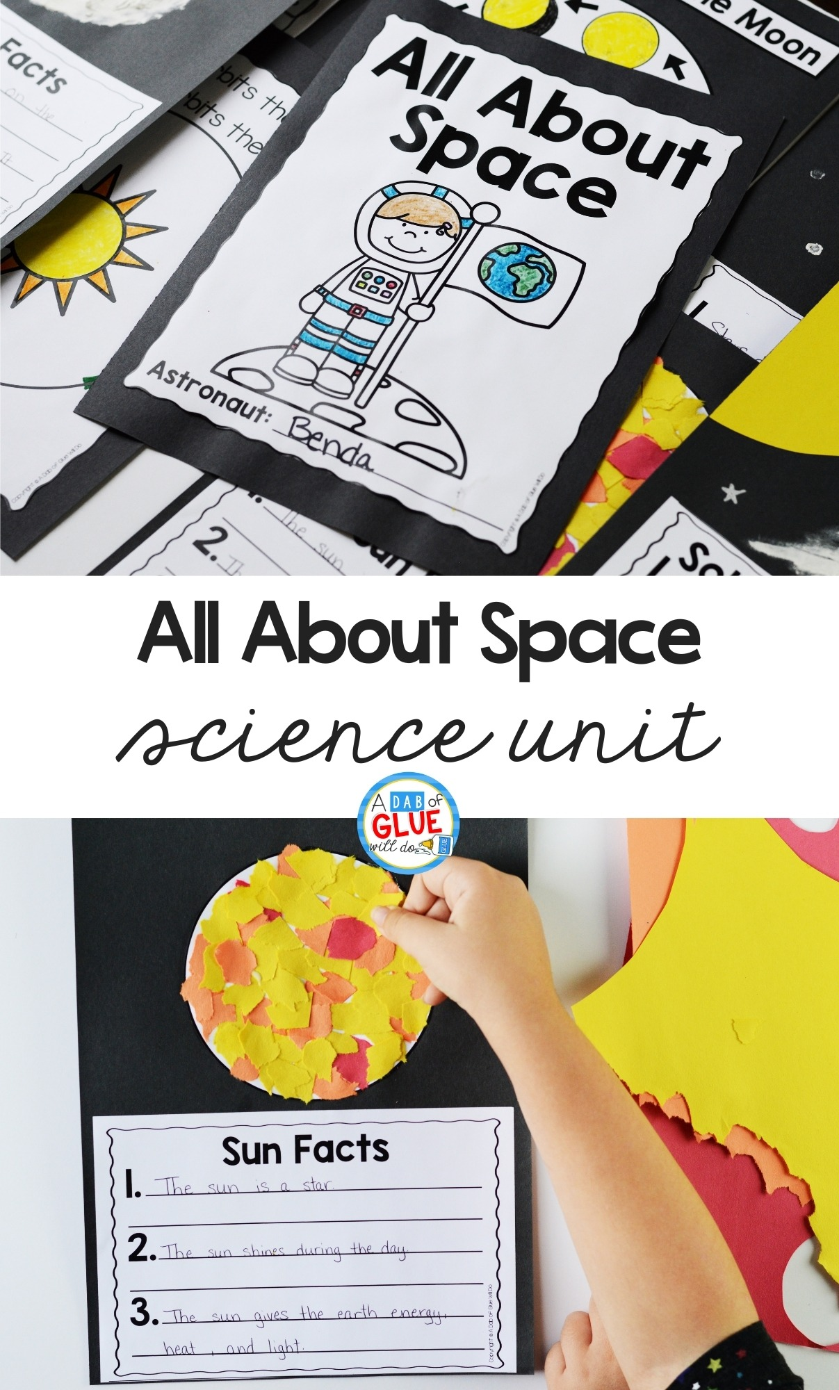 Pin image for the Space Science Lesson Unit.