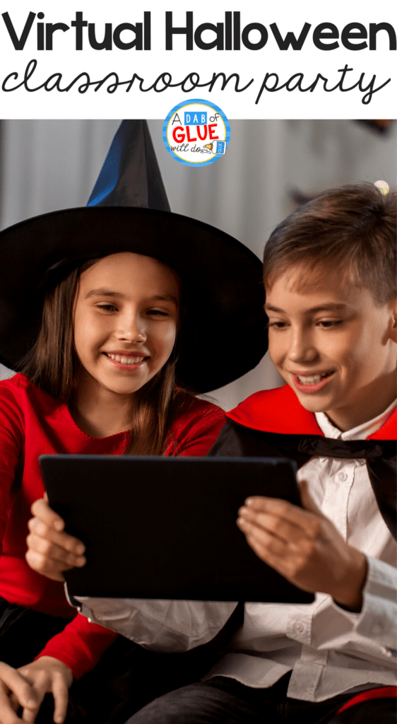 Use these 14 Virtual Halloween Party Ideas for classrooms to help you celebrate Halloween with your students even if you're behind a screen in a Zoom Class!