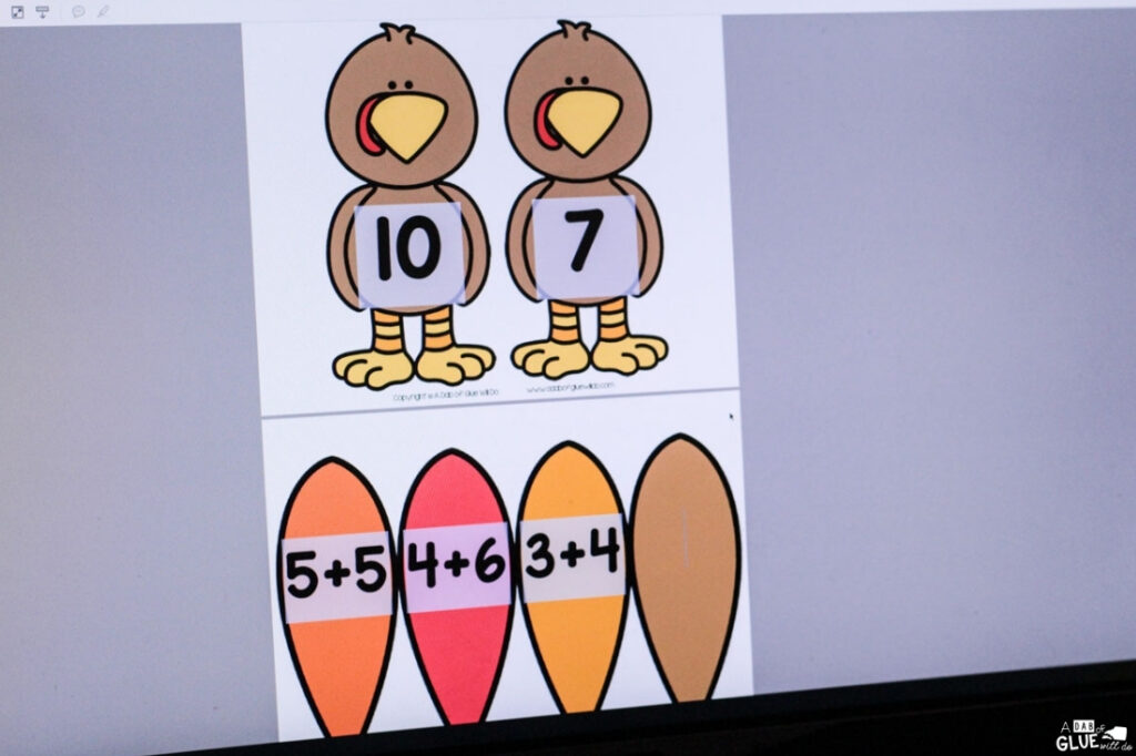 Open adobe to create this Turkey editable Addition and Subtraction activity