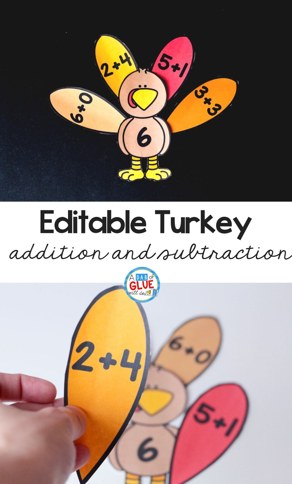 Turkey Editable Addition and Subtraction