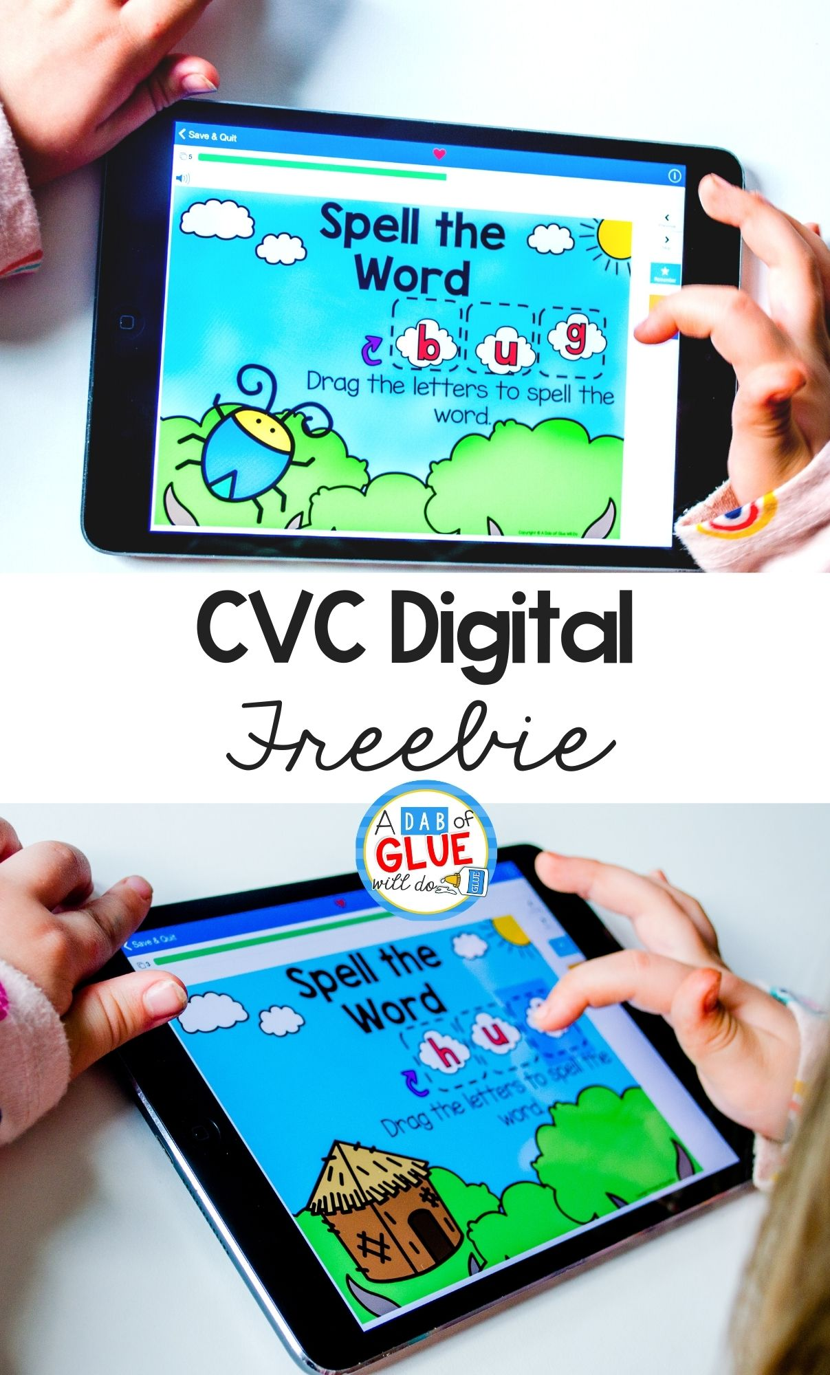 CVC Spelling Digital Activities