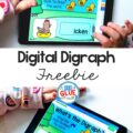 Building phonemic awareness with these Digital Digraph Word Building Activities for little learners.
